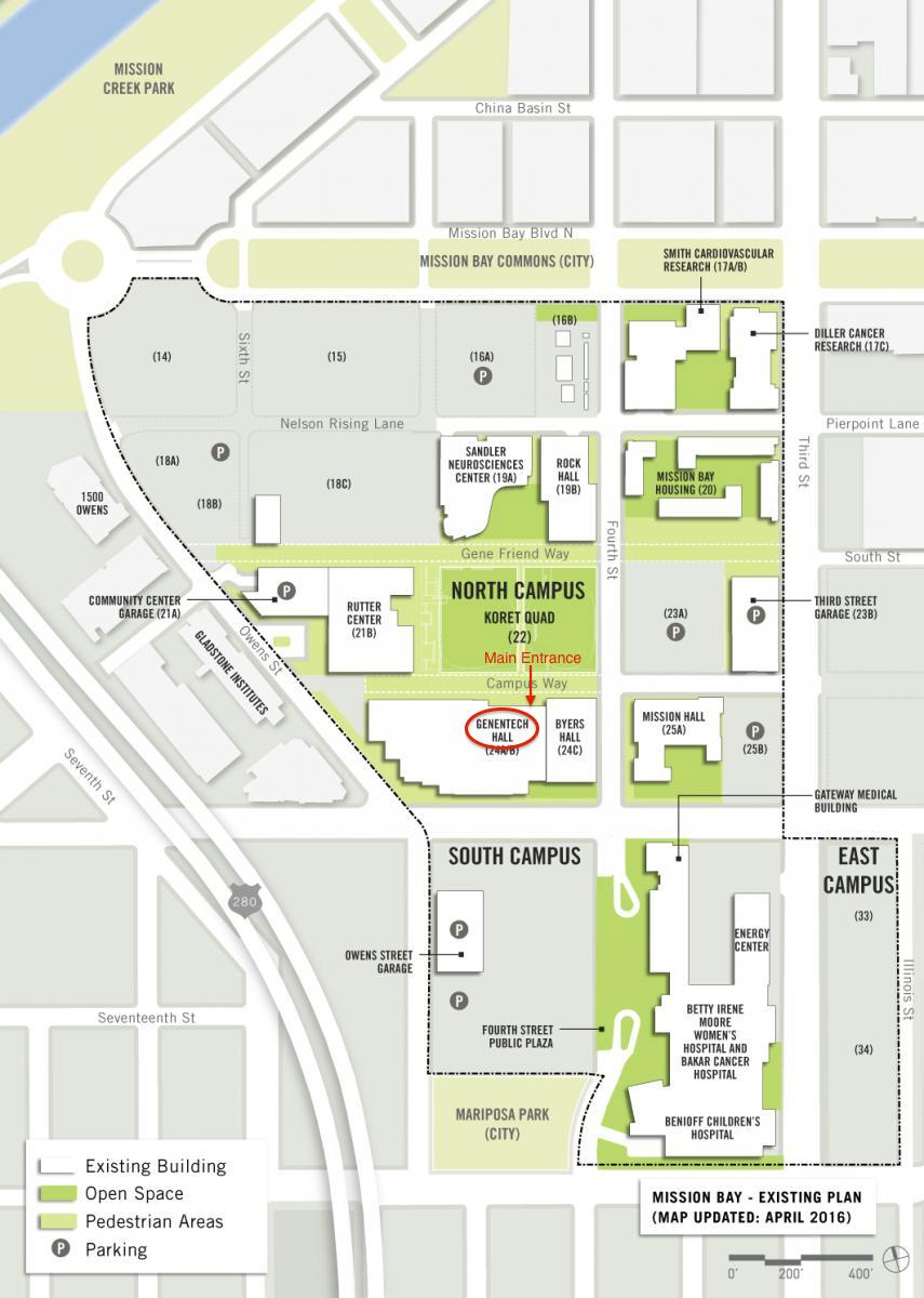 Mission Bay Campus Map.Information For Rbvi Visitors